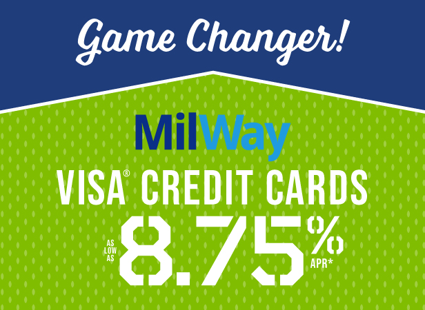 Milway Credit Cards are a game changer. Learn More.